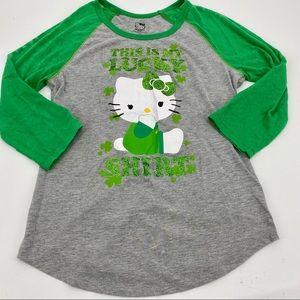 Hello Kitty Lucky Shirt dolman graphic tee sz XL